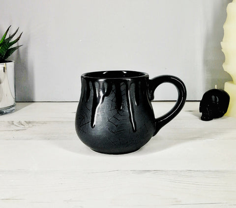 Matte Black Web Bulgy Mug