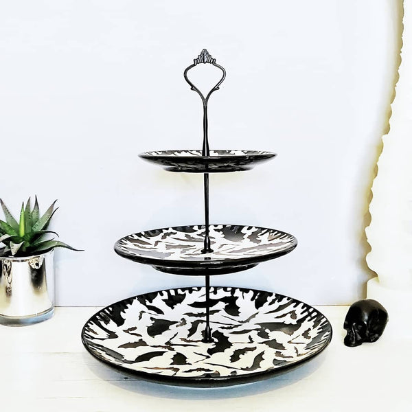 Three Tiered Bat Cake Stand