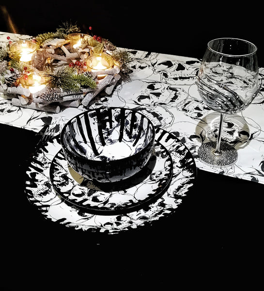 Skull Table Runner