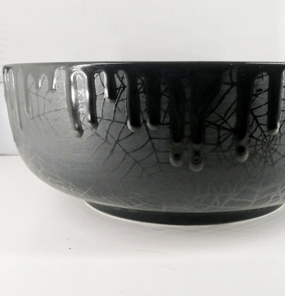 Matte Black Web Fruit Bowl