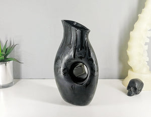 Matte Black Skulls Pitcher