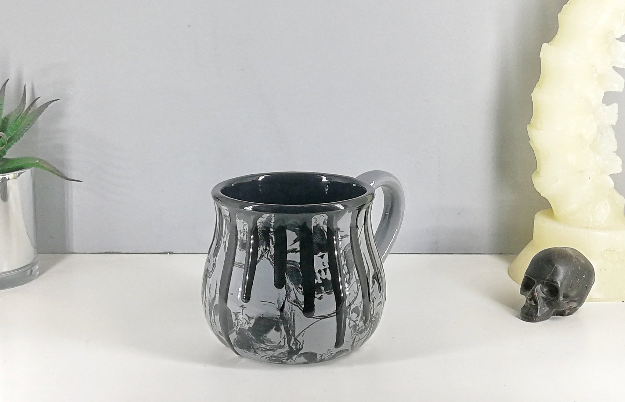 Large Grey Coffee Mug