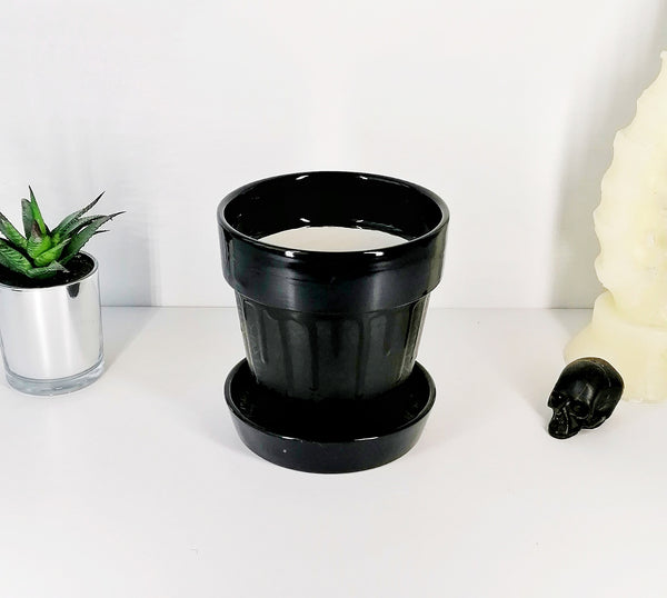 Matte Black Web Plant Pot