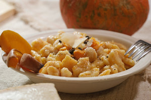 Pumpkin Gnocchi with Parmigiano sauce (Vegetarian) (Tuesdays & Saturdays) (Seasonal Dish)