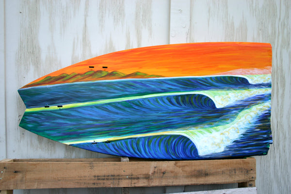 Broken Board Surf Art True Ames