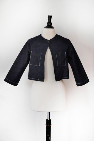Alice Jacket - Short - Navy Denim
