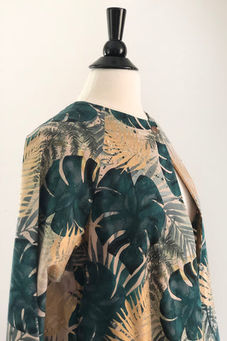 Alice Jacket - Monstera Canvas with Gold
