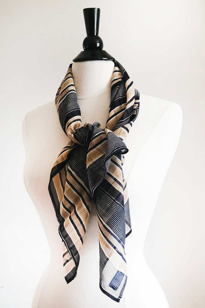 Drew Scarf - Japanese Silk and Cotton.