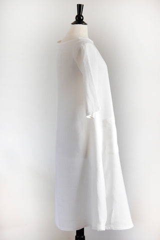 Garden Party Dress - White Linen.