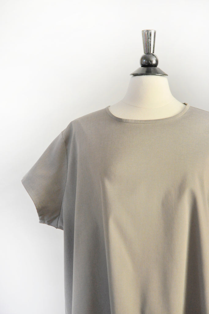 Lauren Top -  Taupe Cotton/Lycra