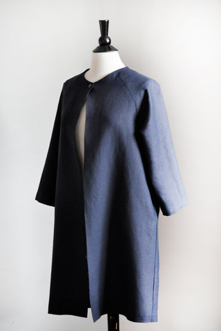 Alice Jacket - Navy Linen