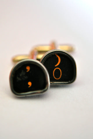Royal Typewriter Key Cufflinks - Tombstone Combo