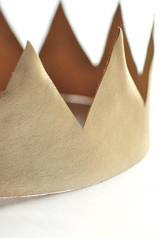 King's Crown - Gold Leather