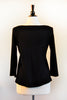 Naomi Top - Black Black Merino