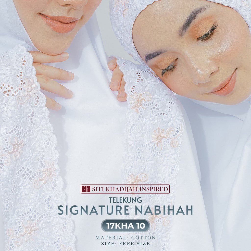 Siti Khadijah Signature Nabihah Collection - Free Woven Bag
