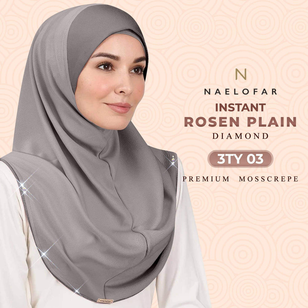 Naelofar Instant Rosen Plain Collection