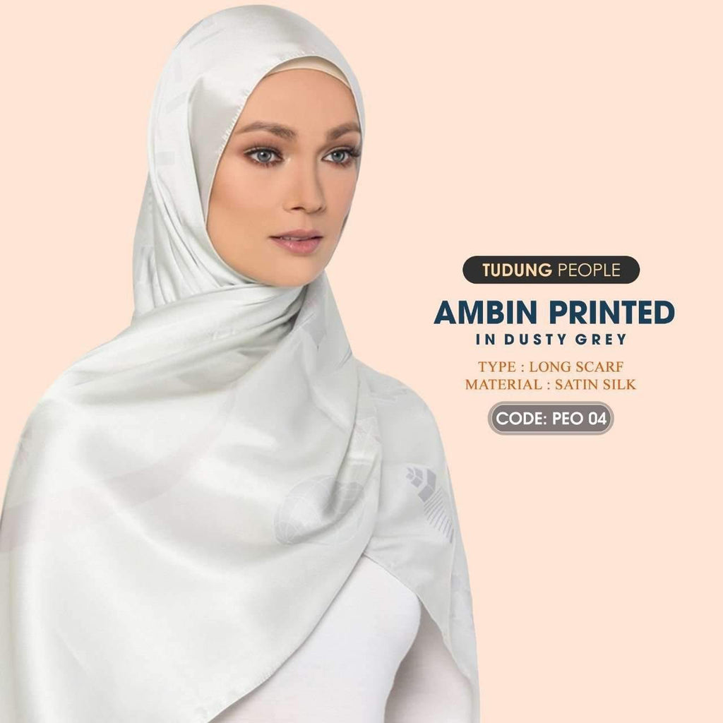 Tudung People Ambin Printed Shawl Collection 4 Colors