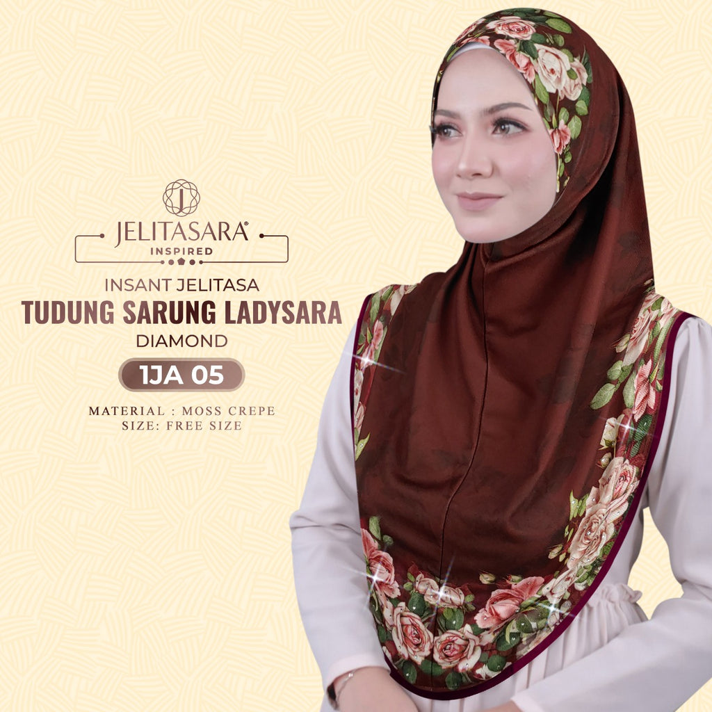 Instant Jelitasara Tudung Sarung Ladysara Diamond Collection