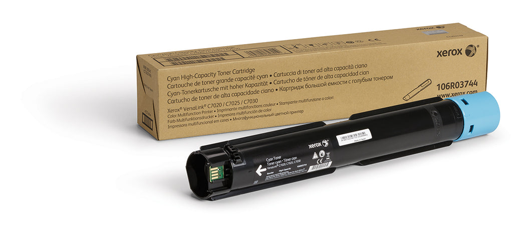 Xerox High Capacity Cyan Toner Cartridge (9,800 Pages) 106R03744 for VersaLink C7020/C7025/C7030