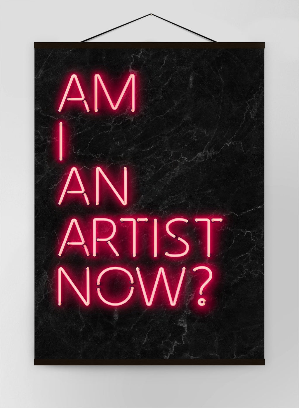 Am I An Artist Neon Canvas