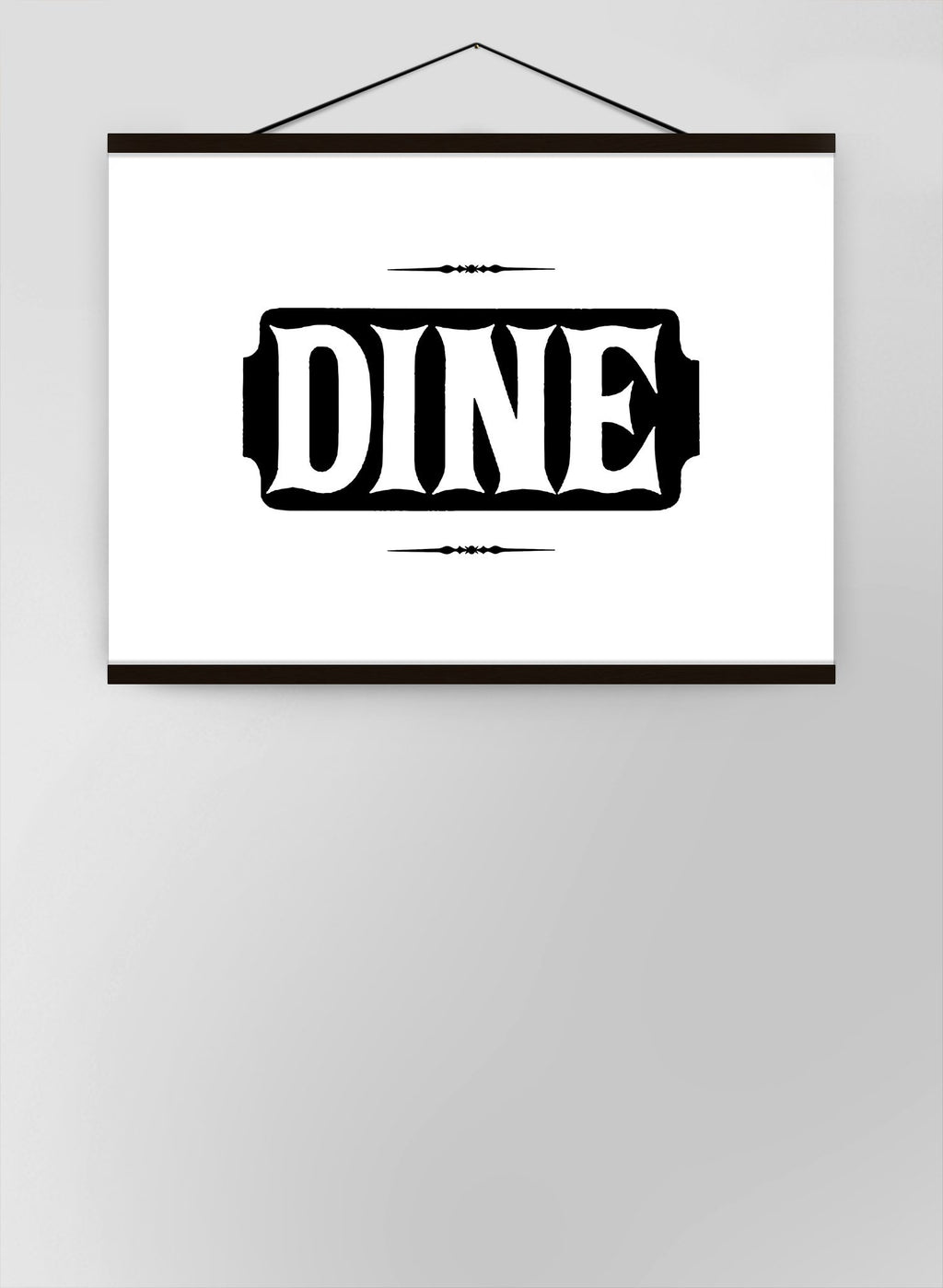 Dine Quote Canvas
