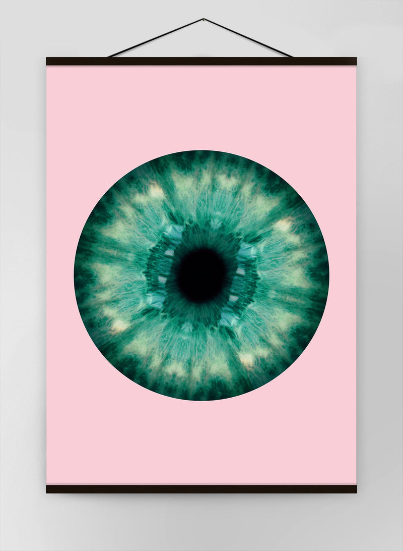 Eyeball Pink And Green Canvas
