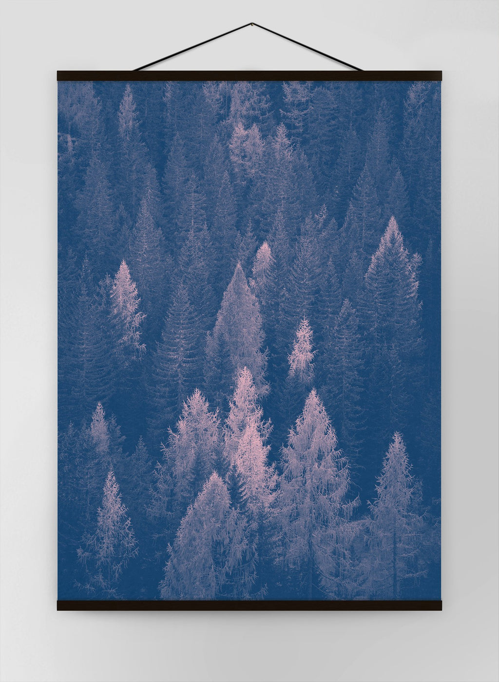 Forest Pink And Blue Canvas
