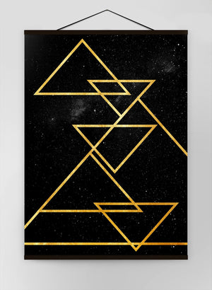 Golden Triangles Canvas