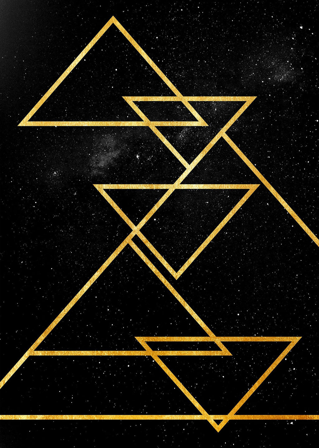 Golden Triangles Print