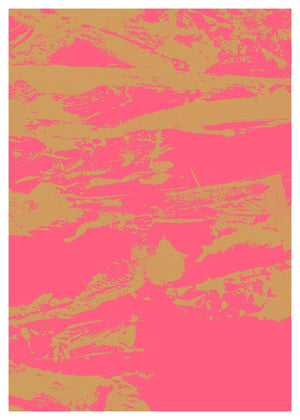 Inky Pink and Gold Graffiti Print
