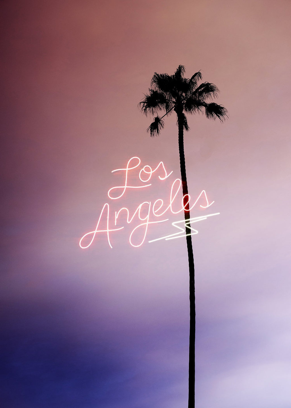 Los Angeles Palm Tree Neon Print