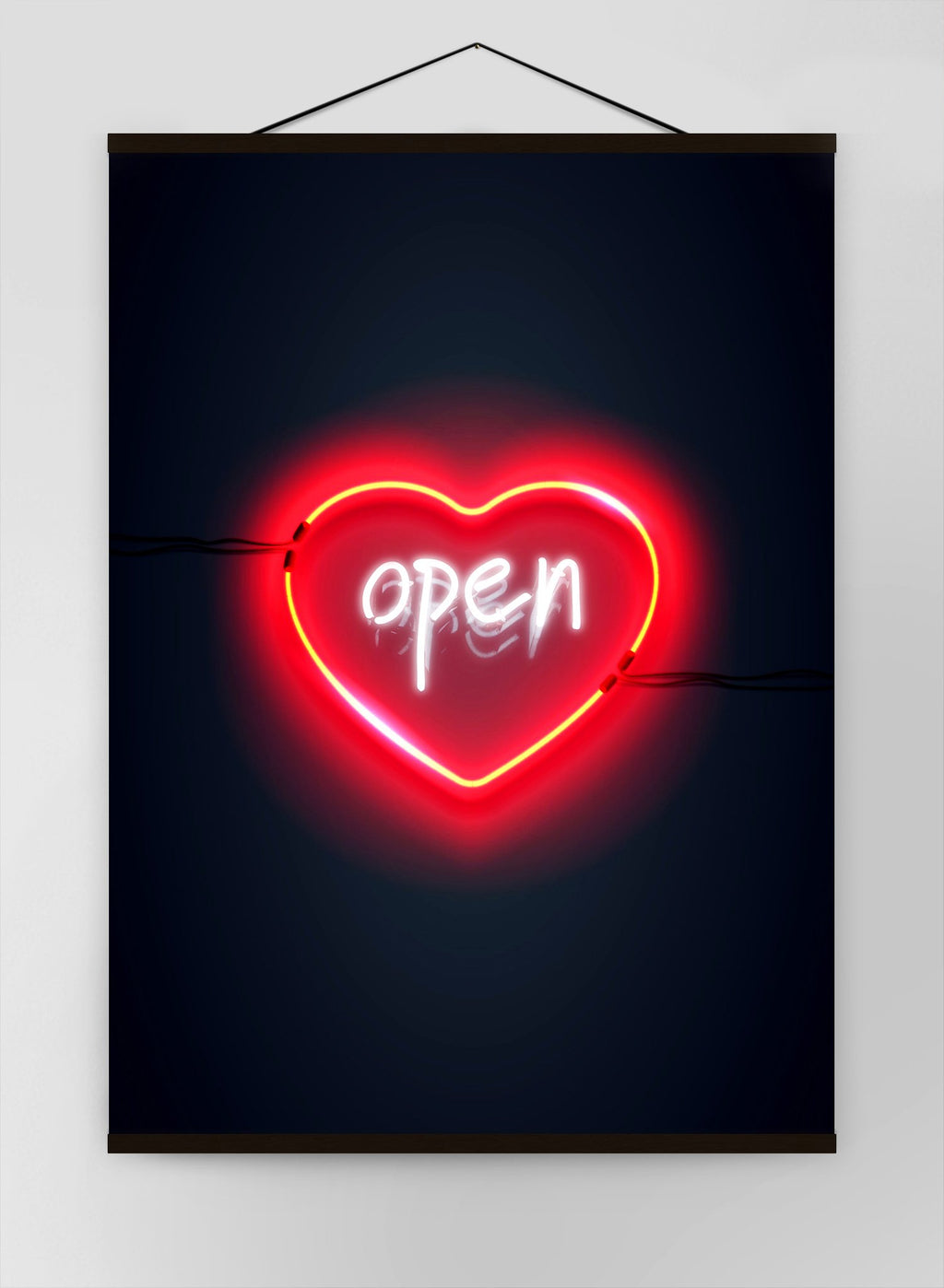 Open Heart Neon Canvas