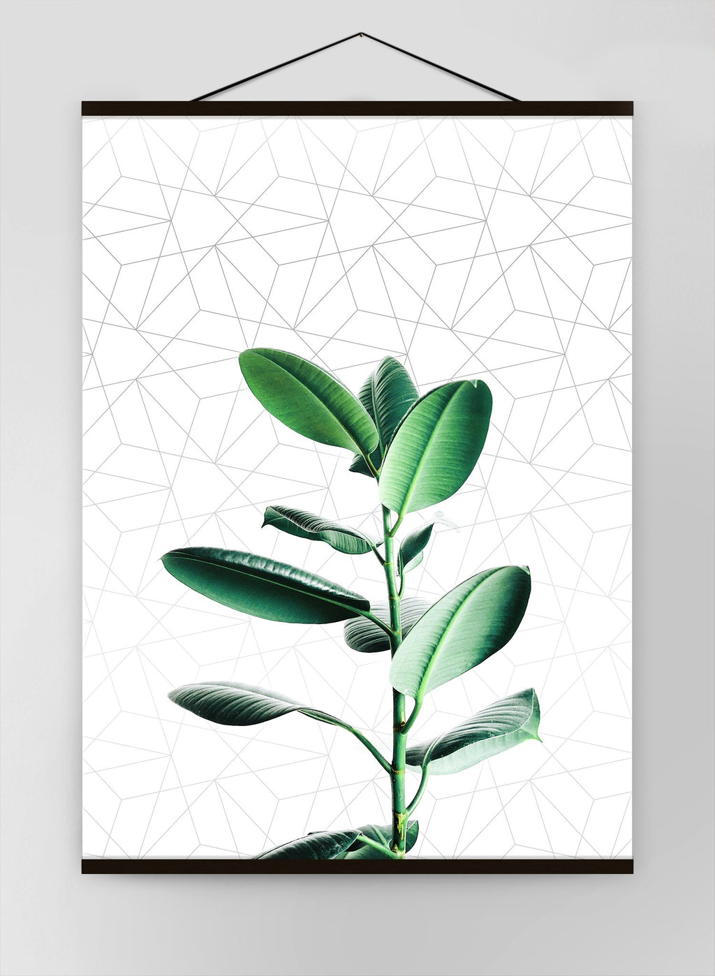 Plant Geometric Canvas