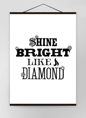 Shine Bright Quote Canvas
