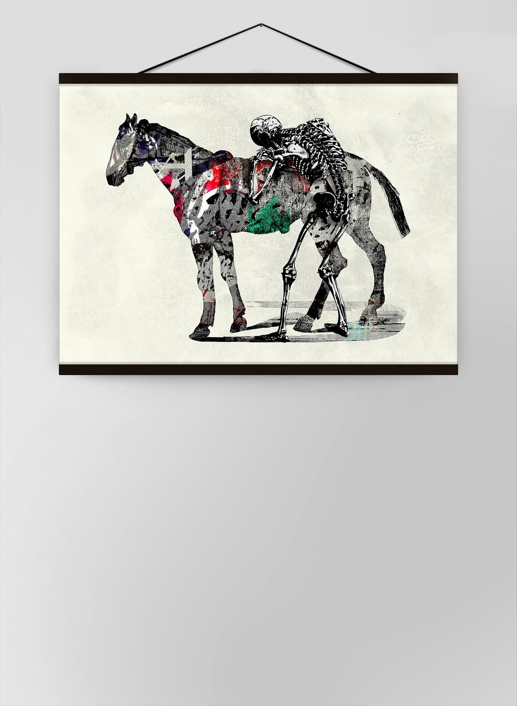 Skeleton And Horse Canvas