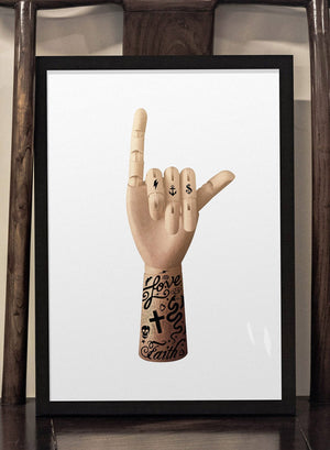 Tattoo Art Hand Print