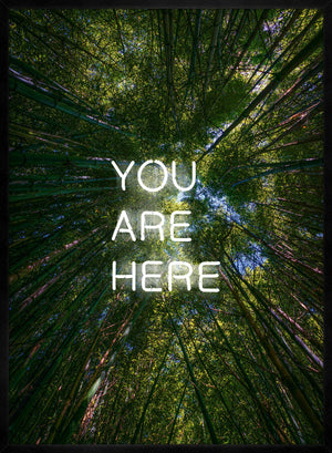 You Are Here Forest Neon Print
