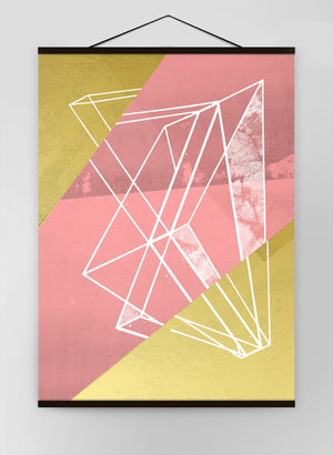 Abstract Angles 1 Pink Canvas