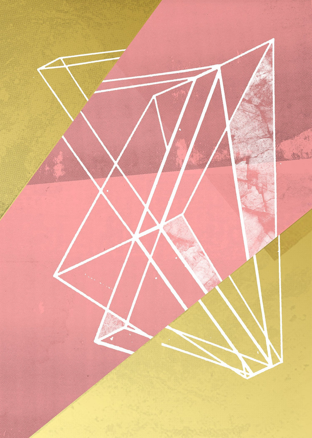 Abstract Angles 1 - Pink
