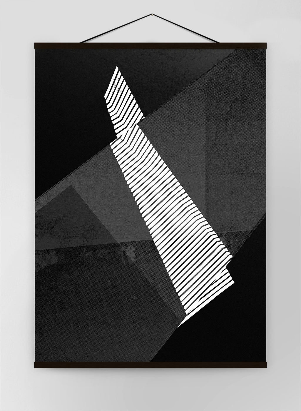 Abstract Angles 2 Black And White Canvas