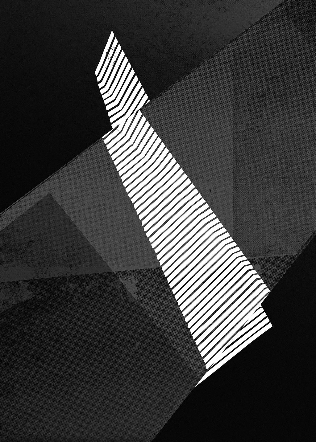 Abstract Angles 2 - Black and White Print