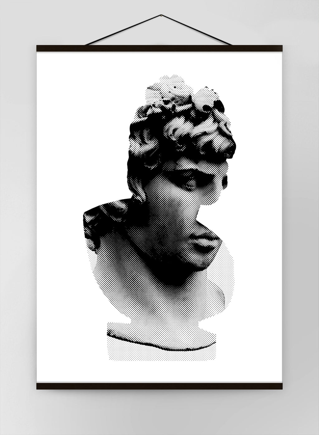 Bust 1 Black And White Canvas