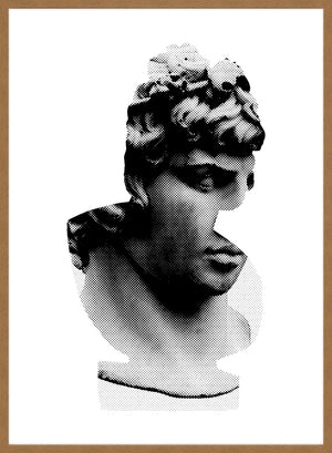 Bust 1 Black and White Print