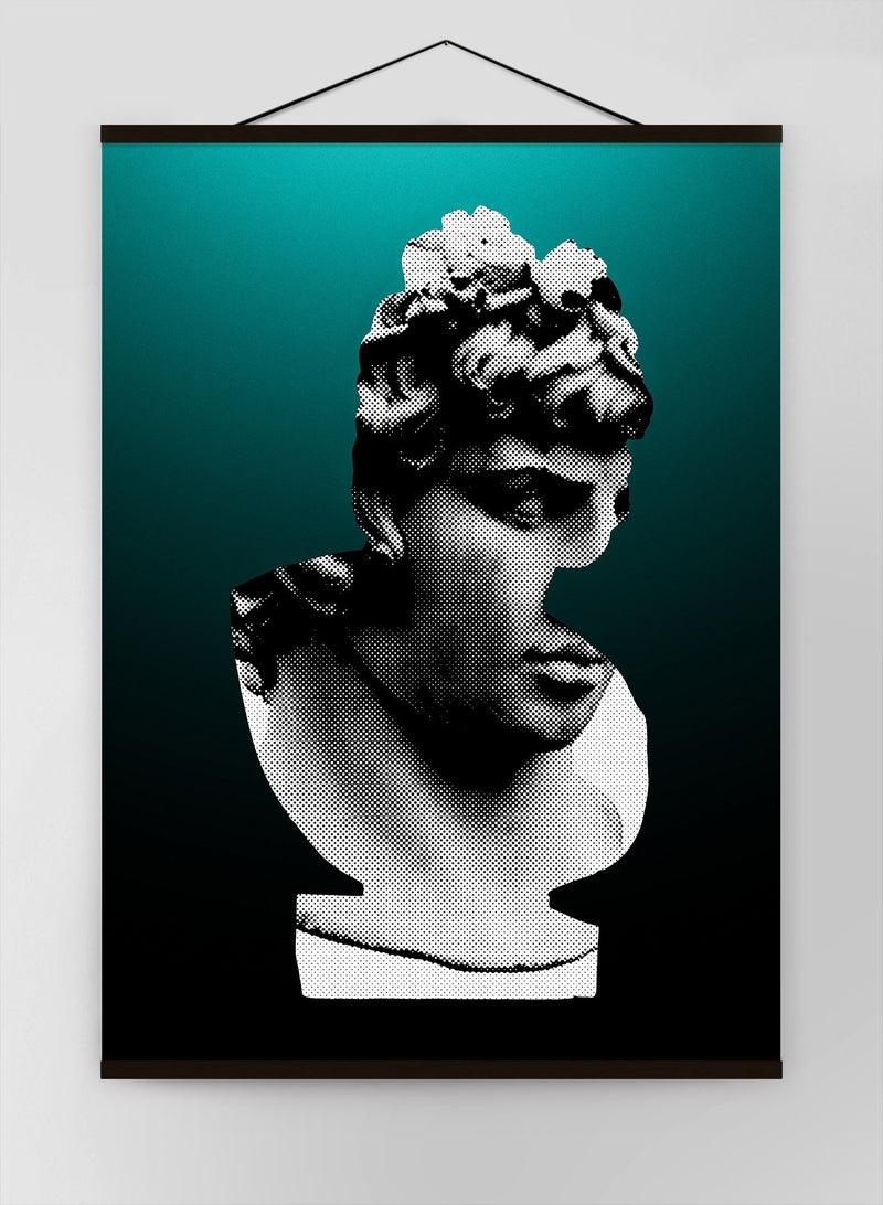 Bust 1 Green Canvas