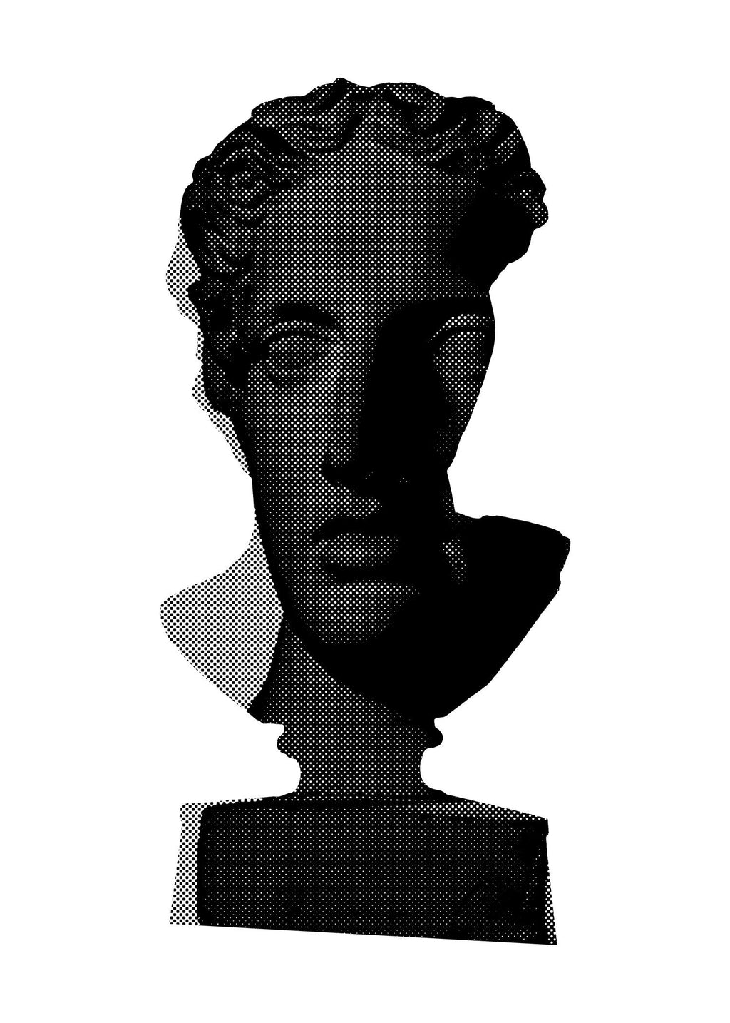 Bust 2 Black and White Print