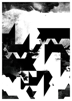 Geometric Abstract Black & White Print