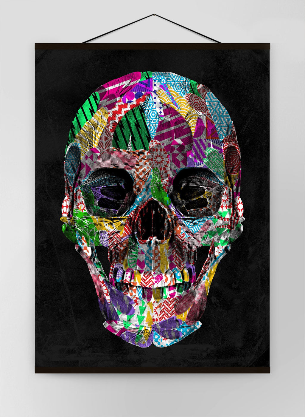 Geometric Pattern Skull Canvas