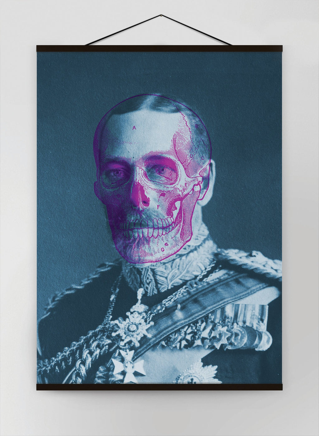 King George V Skull Colour Canvas