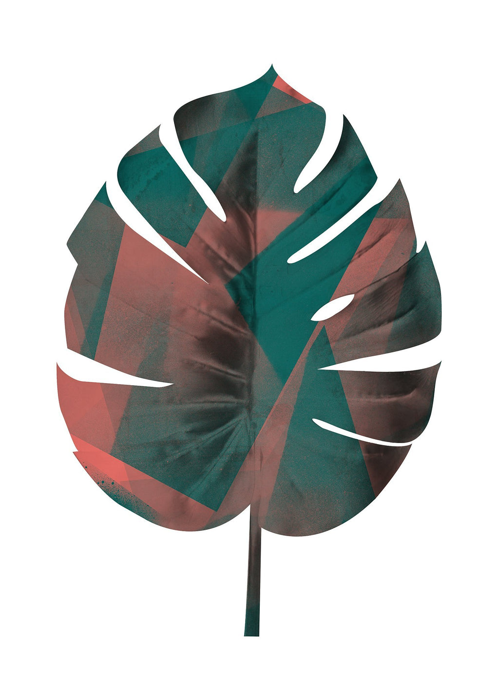 Oversized Tropical Leaf 1 White Print
