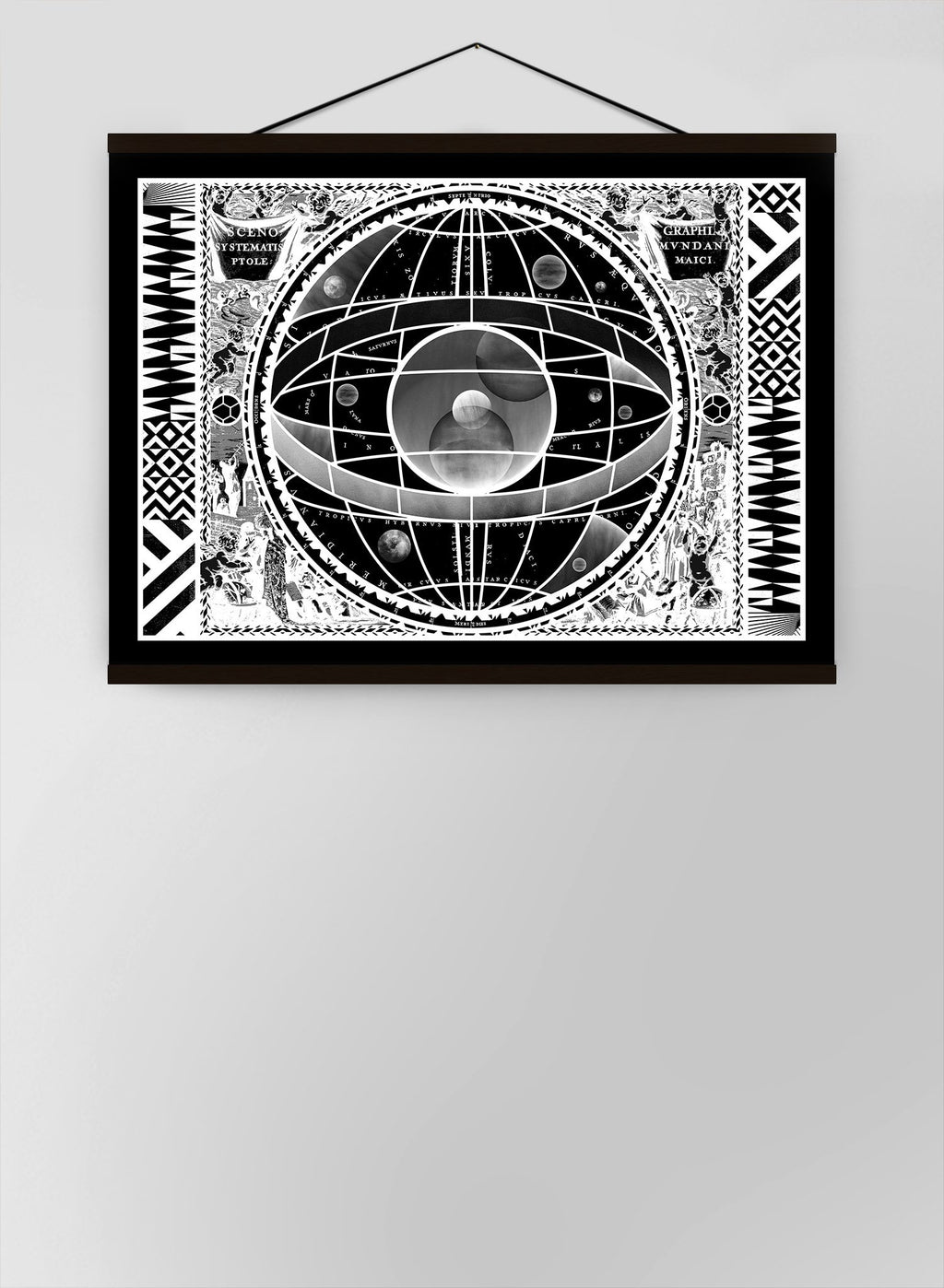Sceno Systematis Astrology Black Canvas